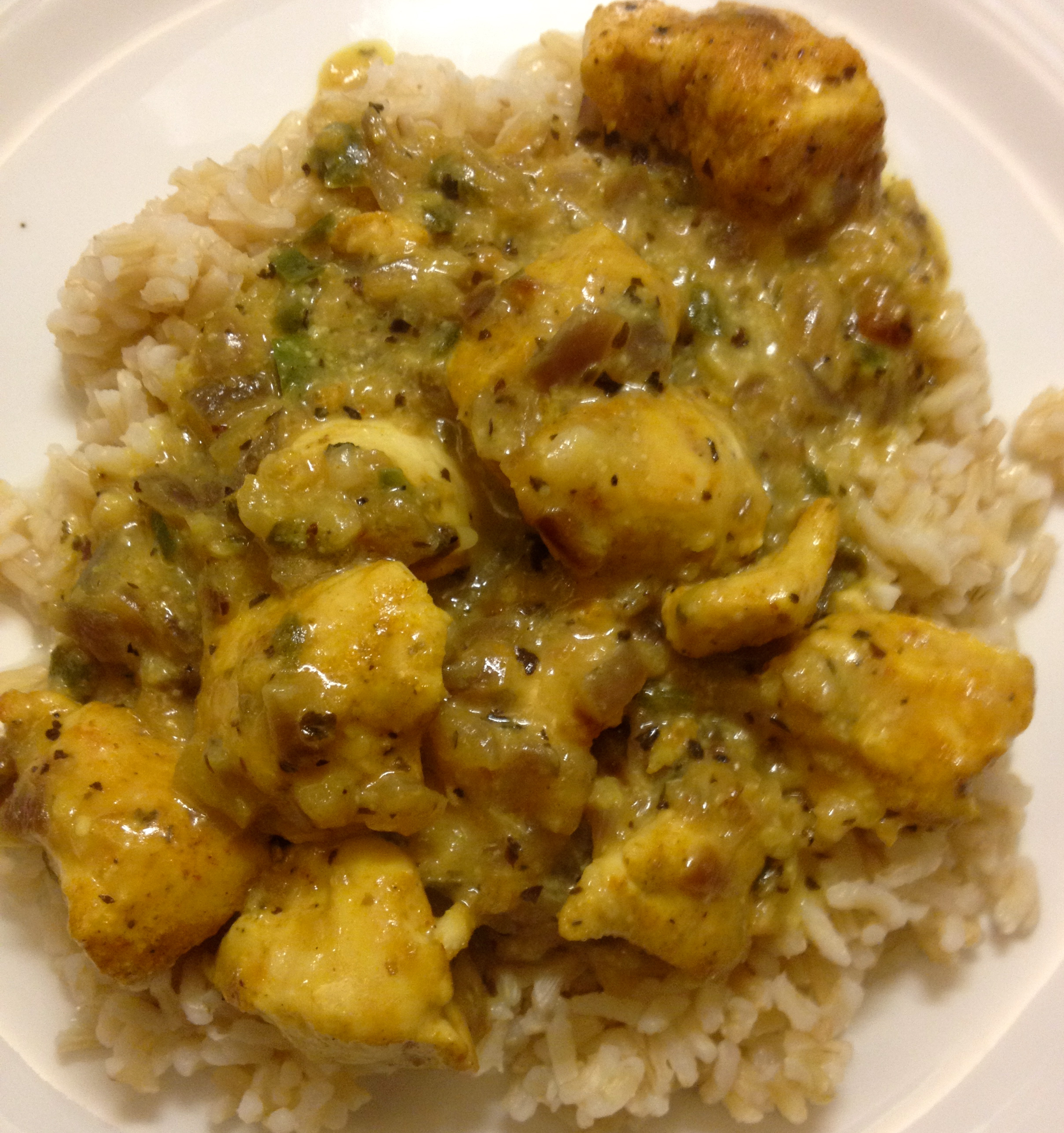 Basil Chicken in Coconut Curry Sauce | how 'bout some cake?