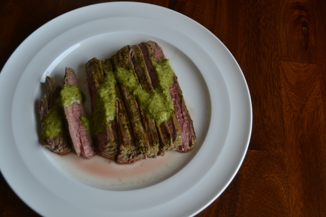 Cilantro Lime Marinated Flank Steak | how 'bout some cake?